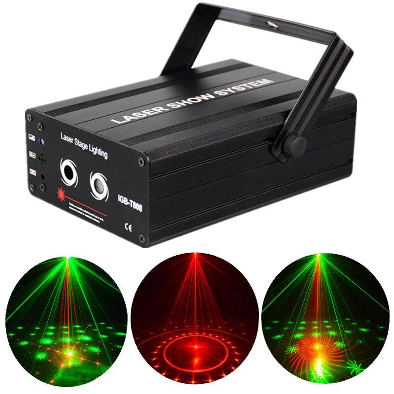padrao verde 40 em 1 laser vermelho lanterna dj efeito de iluminacao do estagio do laser