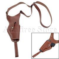 Tactical Vertical Shoulder Cowhide Holster Genuine Leather Right Hand Gun Holster Adjustable