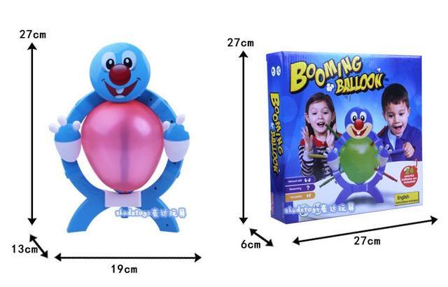 1 pcs balão quente em expansão. boom boom balão família cutucando game.10 ballons family fun toys