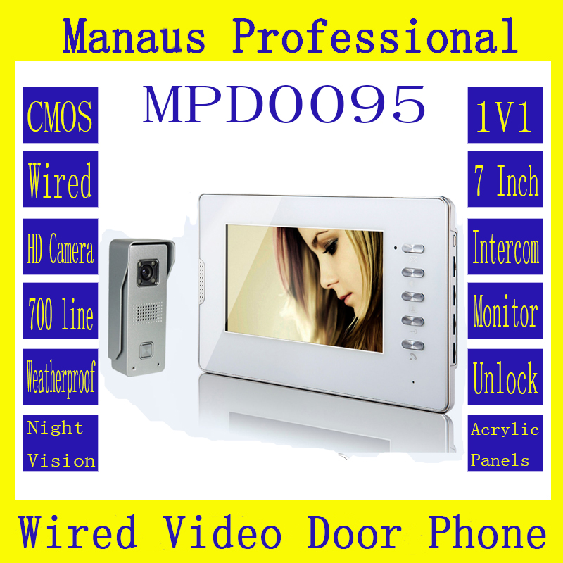 Latest Wired Magnetic Lock One to One Video door phone High Quality Smart Home 7 inch Screen Display Video Intercom Phone D95b exported quality screen printing frame 7 5x10 inch 19x25cm wholesale price door to door