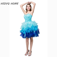 In Stock Cheap Short Homecoming Dresses New 2015 Pink Mint Fuchsia Fast Shipping
