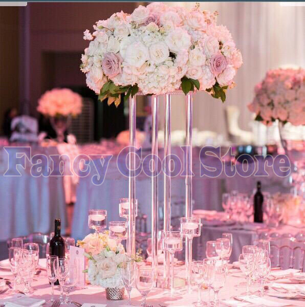 60cm Height Wedding Acrylic Crystal Table Centerpiece Flower Stand Table Decoration 10pcs Lot In