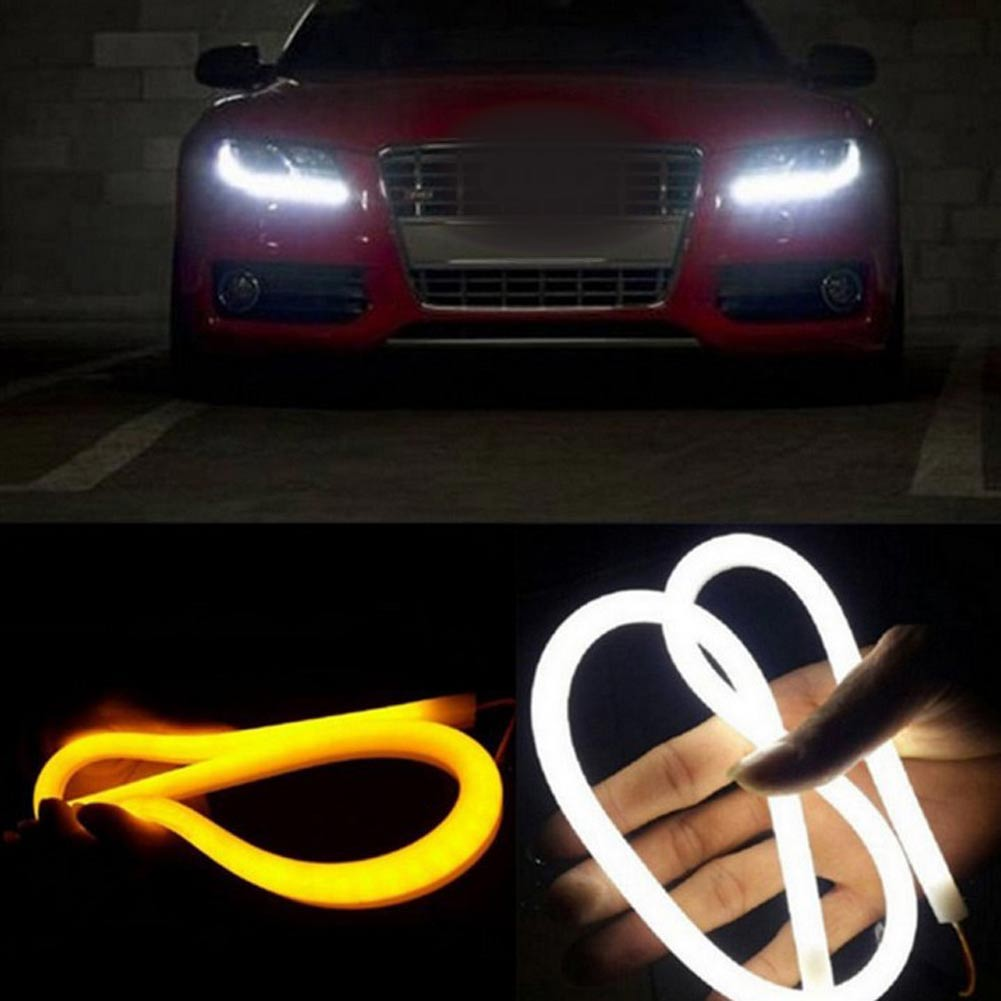 Flexible Turn Signal Light Pcs CMCM Car Soft Tube LED Strip - Car signal light