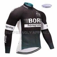 Nouveau Polyester VTT Cyclisme Jersry T-Shirt Hommes 2017 Ajustement Serré Pro équipe À Long Cyclisme Manches Jersey Shirt Route vtt Cool Vitesse de Recyclage
