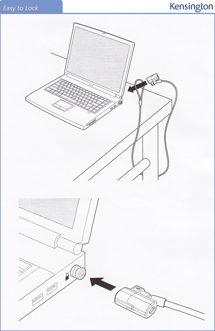 Image 5 - Kensington oryginalny Anti theft ClickSafe z kluczem laptopa Ultrabook blokady z 1.5 m kabel bezpieczeństwa łańcuch z opakowania detalicznego K64664laptop locklaptop security locklaptop cable lock -
