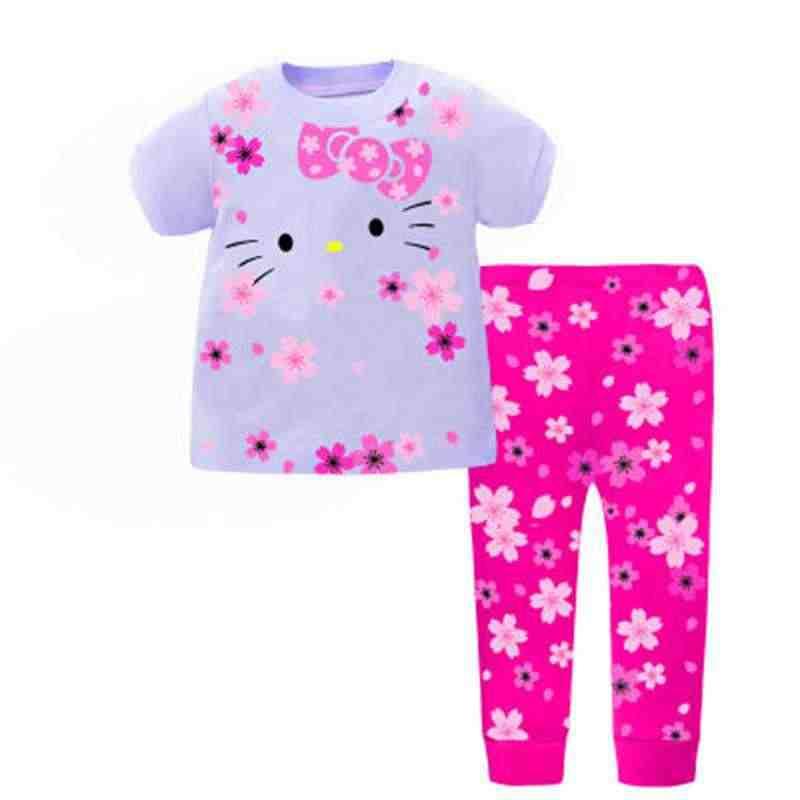 Новые детские пижамы Ночная одежда из хлопка принцесса мультфильм домашней  одежды для девочек Домашняя одежда Демисезонный bb6166fcee353