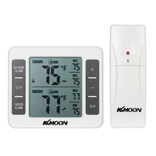Buy online Digital Thermometer Temperature Meter Weather Station tester + Wireless Outdoor Transmitter 0-50C with C/F Max Min Value Display