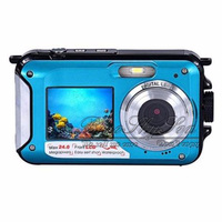 Free Shipping HD 1080P 24MP Double Screen 16x Zoom Underwater Digital Video Camcorder Camera