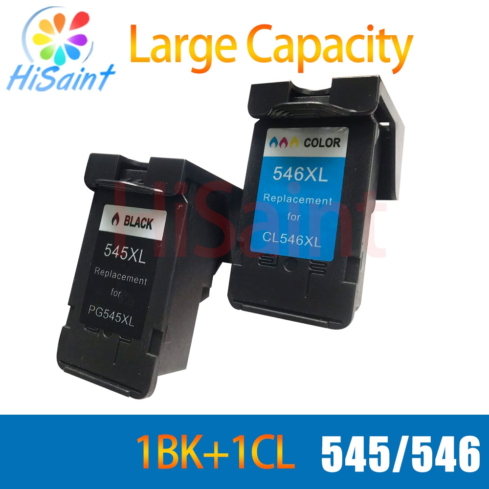 hisaint For Canon pg545 pg546 PG545 CL546 Printer Ink Cartridges compatibe for canon MG2400 MG2500 InkJet Printer Free Shipping 2017 for canon 545 pg545 pg545xl printer ink cartridges free shipping hot sale