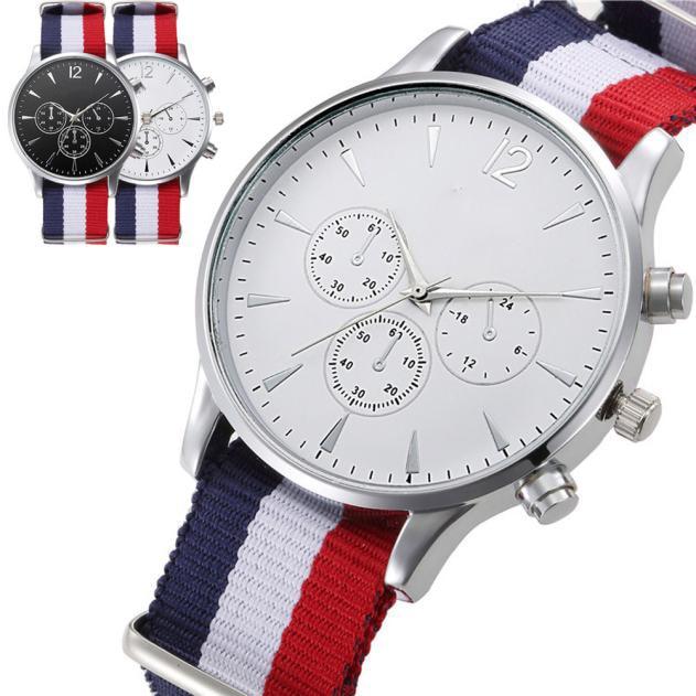 Splendid 2016 Hot Sale Male Wristwatches Luxury Fashion Bracelet Canvas Mens Analog Watch High Quality 2016 new hot sale brand magic star black white analog quartz bracelet watch wristwatches for women girls men lovers op001