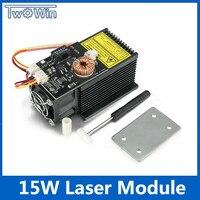 15 Вт Мощный лазерный модуль 12 В 45 450нм Синяя лазерная головка лазерная гравировка для DIY CNC лазерный гравер машина
