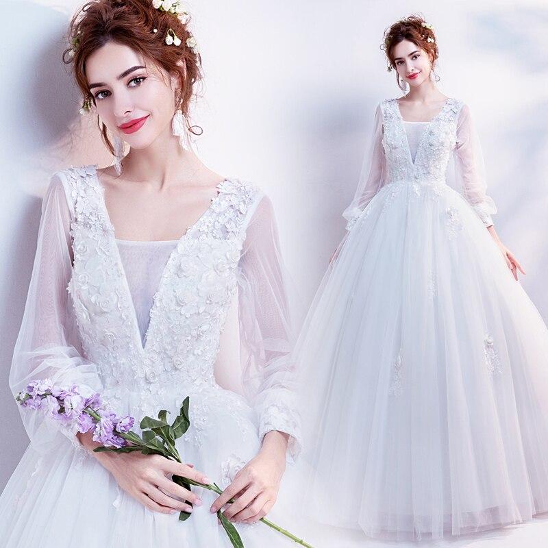 SOCCI Weekend Vintage Long Sleeves Wedding Dresses 2017 Women ...