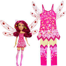 Kids Classic Mia Pink Fairy Girls Fancy Dress Costume Party Outfit Mia cosplay costume(China)