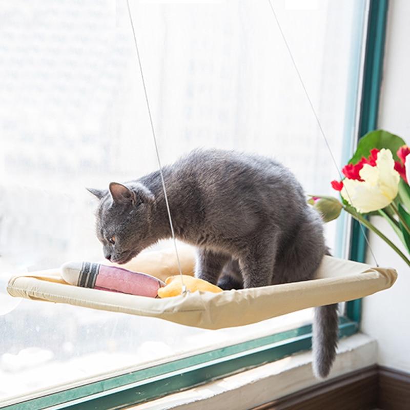 Hamac pour chat fenêtre facile à fixer avec ventouses