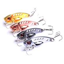 100Pcs Metal VIB Fishing Lures 3.5cm 3.5g Vivid Vibrations Spoon Lure Bait Bass Artificial Hard Cicada Tackle