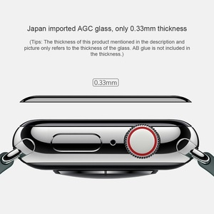 Image 2 - NILLKIN For Apple Watch 4 series 4 Full Cover 3D  tempered glass screen protector 0.33 mm For Apple Watch 3/2/1 (44/40/42/38mm)