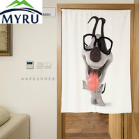 MYRU 3D Cute Animal Series Door Curtain Polyester Decorative Partition Mould Proof Shade Door Curatin 85x120cm