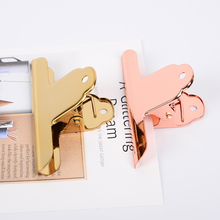 Large Bill Holder Gold Clip Rose Gold Seal Clip Nordic Ins Dovetail Clips Chancery Paper Documents Organizer Binder Clip