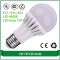 led 120 volt light 5W 7W led light bulb 220v