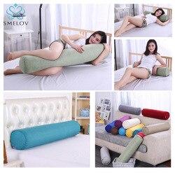 Chłopak poduszka długa kolumna duża bawełniana pościel poduszka z wcięciem Nap kanapa łóżko śpiąca okrągła poduszka stóp szyi głowy wiadomość poduszki