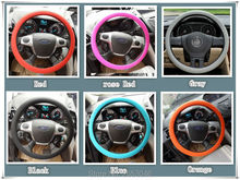 Car-styling Car silicone steering wheel cover for mercedes w205 seat leon peugeot 207 renault megane 3 smart fortwo Accessories