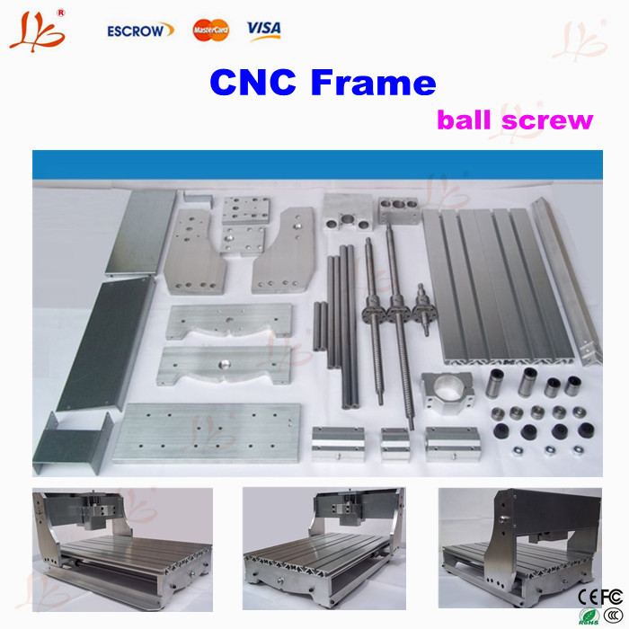 3040 CNC router frame ,DIY CNC frame with ball screw for small engraving machine parts EU tax free cnc 6040z diy cnc frame lathe kit of milling engraving machine with ball screw free tax to eu