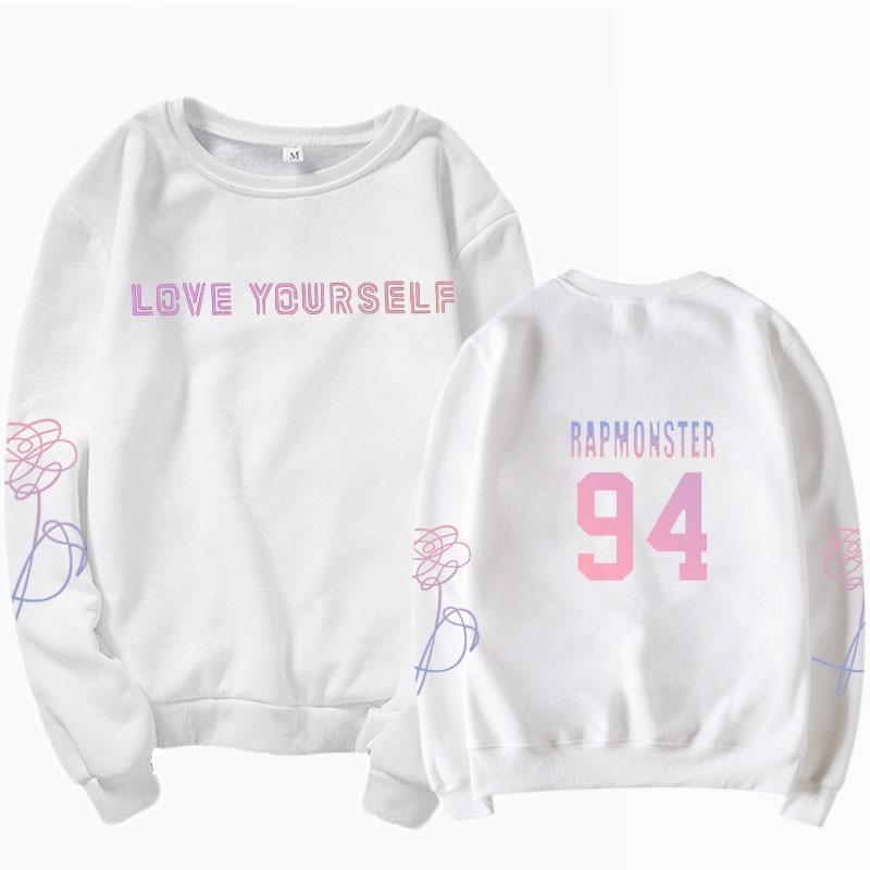 jungkook Unisex hoody kpop suga93 hoodies love KPOP weatshirt love yourself KPOP hoody sweatshirt  harajuku hoodies 26