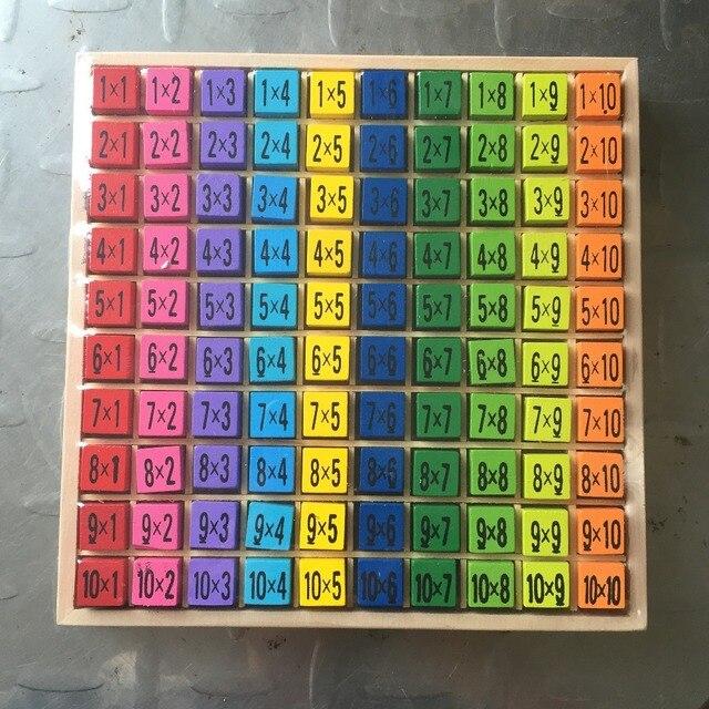 Brinquedos do bebê Brinquedos Educativos 99 Brinquedo Matemática Tabuada 10*10 Figura Blocos 1-100 Blocos de Brinquedos De Madeira aluno Presente de Natal