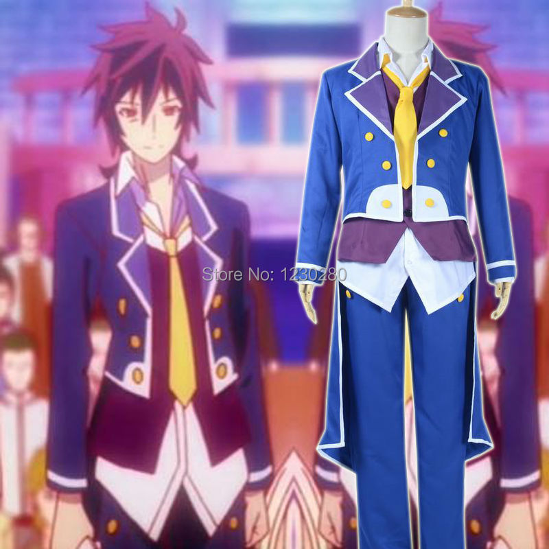 Hot Anime No Game No Life Sora Coat Cosplay Costume Tuxedo Halloween Costumes