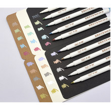 Sipa 10 Farbe Metallic Marker Stifte für DIY Album Zeichnung, Doodle Gekritzel auf Dark Papier, Karten, Foto