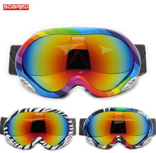 SOARED Men Women Snowboarding Skiing Goggles Ski Snow Glasses Lens Motocross Goggles Winter Sports Eyewear