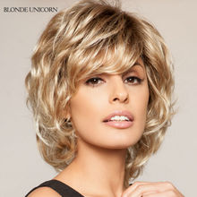 Blonde Unicorn Layered Wigs Medium Human Hair Wigs For Women Fluffy Human Hair Wigs Customized 9 Colors Global Free Shipping
