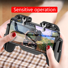 Mobile Game handle integrated gaming trigger L1R1 Shooter Fire Button Trigger Heat Dissipation phone holder For Knives Out/PUBG