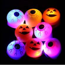 Безопасность шутка Хэллоуин игрушки светящиеся глаза люминесцентное кольцо мягкий забавный подарок Z0304