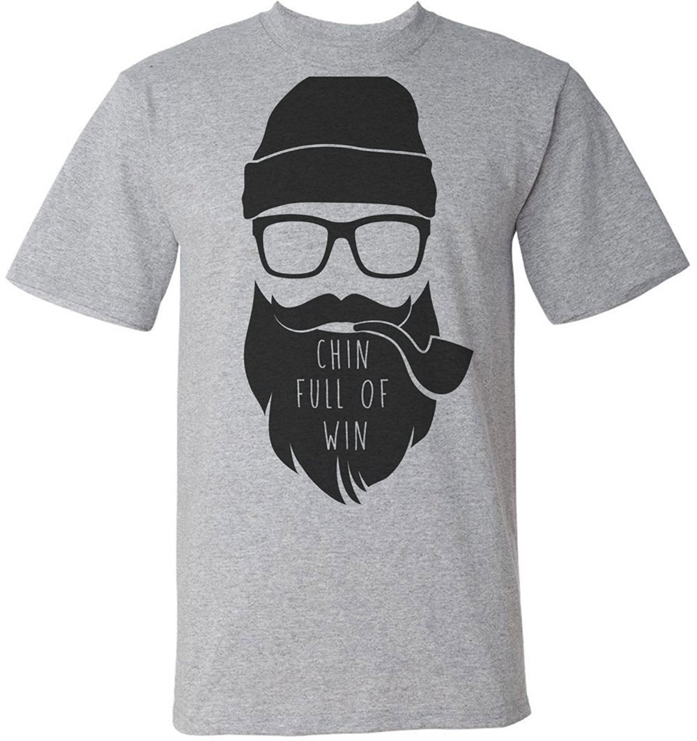 2018 New Summer Men Hot Sale Fashion Chin Full Of Win Hipster With A Huge Beard Mens T-ShirtT Shirt Summer Tops Tees