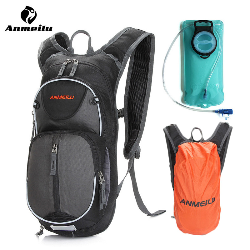 Anmeilu Water Bag Nylon Rainproof 2017 Cycling Backpack MTB Road Bike Running Hydration Bladder Camelback Ciclismo Accessories 12l cycling road backpack bike mountaineering rucksack water proof nylon running outdoor ultralight travel water bag helmet bag