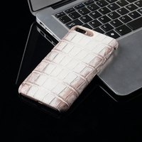In Stock Natural Crocodile Belly Skin For Iphone8 Genuine Crocodile Leather Phone Cover Back Case For