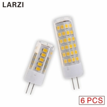 LARZI 6PCS G4 AC 220V LED Lamp 3W 4W 5W 7W 2835 SMD Lampada Bulb High Quality Lighting Replace Halogen Lamps for Chandelier