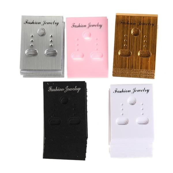 100 Pcs/lots Trendy Ohrring Organizer Ohr Studs Schmuck Display Rack Kunststoff Ohrring Display Karten Ohrring Karten