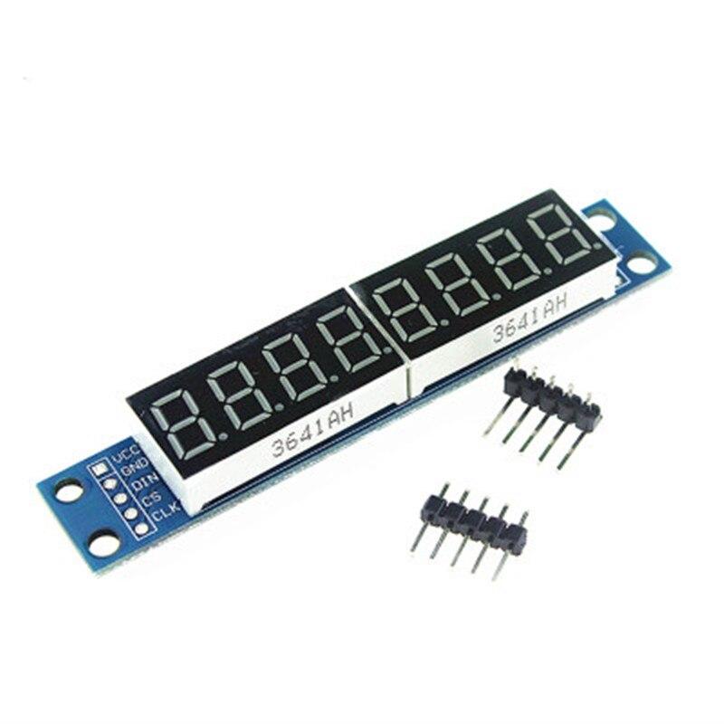 MAX7219 LED Dot Matrix 8 Digit Digital Tube Display Control Module 3.3V 5V Microcontroller Serial Driver 7-segment For Arduino 3 5 digit 7 segment lcd display module