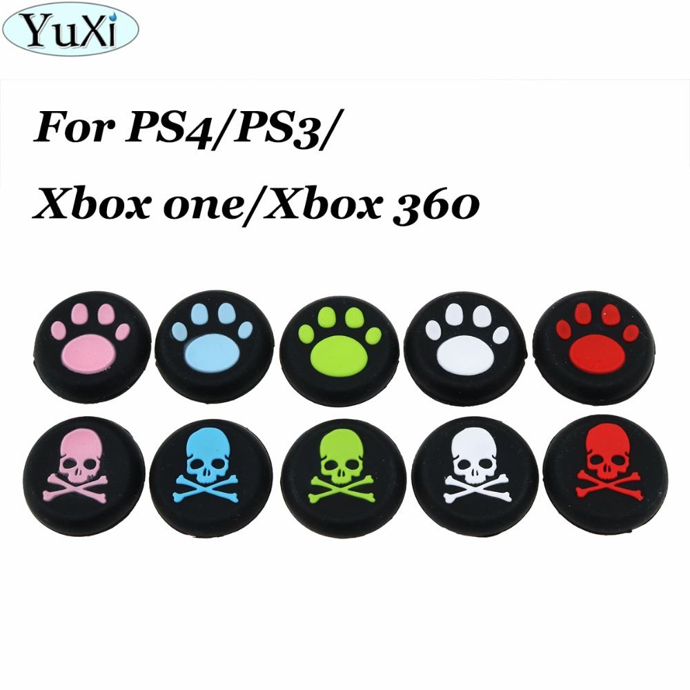 yuxi-skull-cat-paw-silicone-analog-thumb-grips-for-font-b-playstation-b-font-4-ps4-pro-slim-controllers-caps-cover-for-xbox-one-x-s