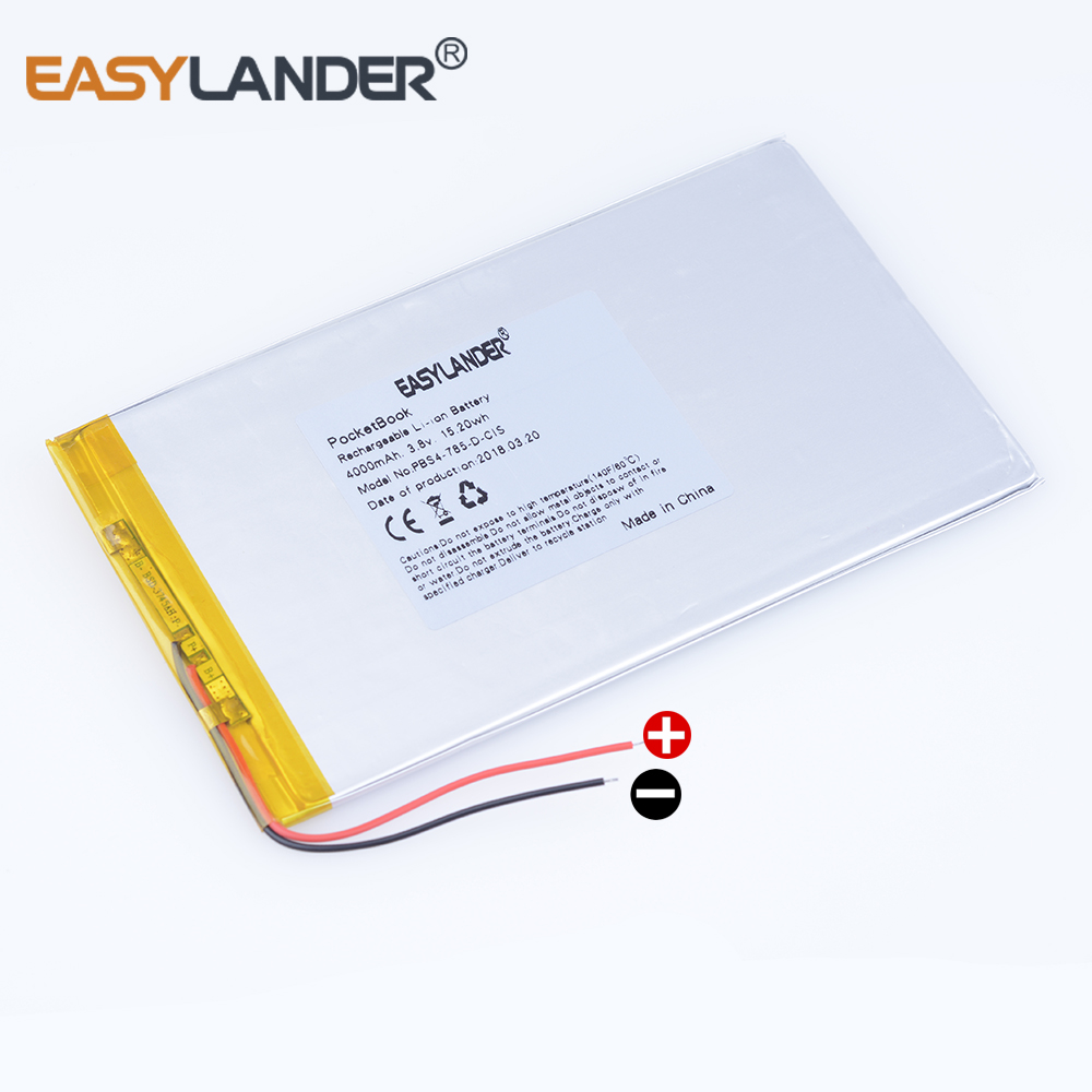 3 8V 4000mAh 15 2wh Rechargeable Li-Polymer Li-ion Battery For GPS Tablet  PC PocketBook surf 4M POWER BANK MODEL PBS4-785-D-CIS