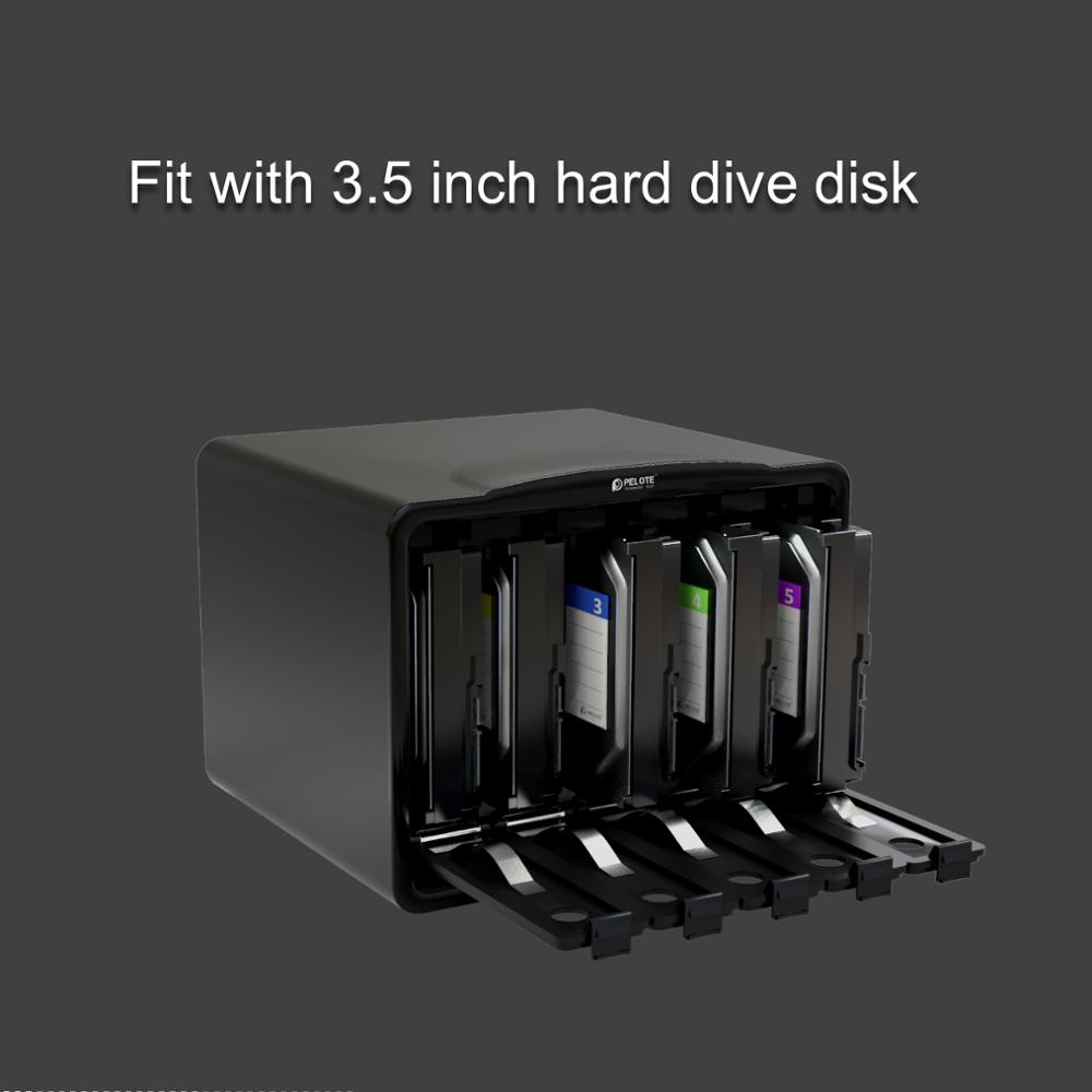 PHB35-5 коробка для хранения жесткого диска 5 отсеков 3,5 дюймов HDD SATA защитный чехол для жесткого диска коробка инструмент защита для жесткого диска