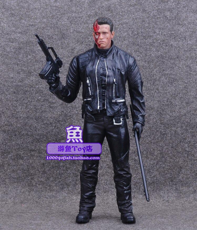 Daño de batalla T-800 caliente Ver. Figurita Schwarzenegger Película de ciencia ficción The Terminator Genisys Crazy Toys 31CM Figura de acción