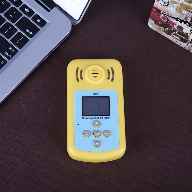 Digital Gas Analyzers LCD CO Gas Detector Carbon Monoxide Measurement Alarm Detector 0~2000PPM