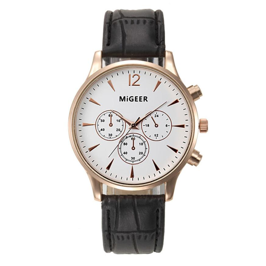 Top Brand Watches Men Relojes Mujer 2018 Luxury Business Wrist Watch Women Leather Quartz Sport Watch Mens Hours Clock Relogio fashion brand geneva watch women men casual faux leather quartz wrist watches relogio clock relojes mujer