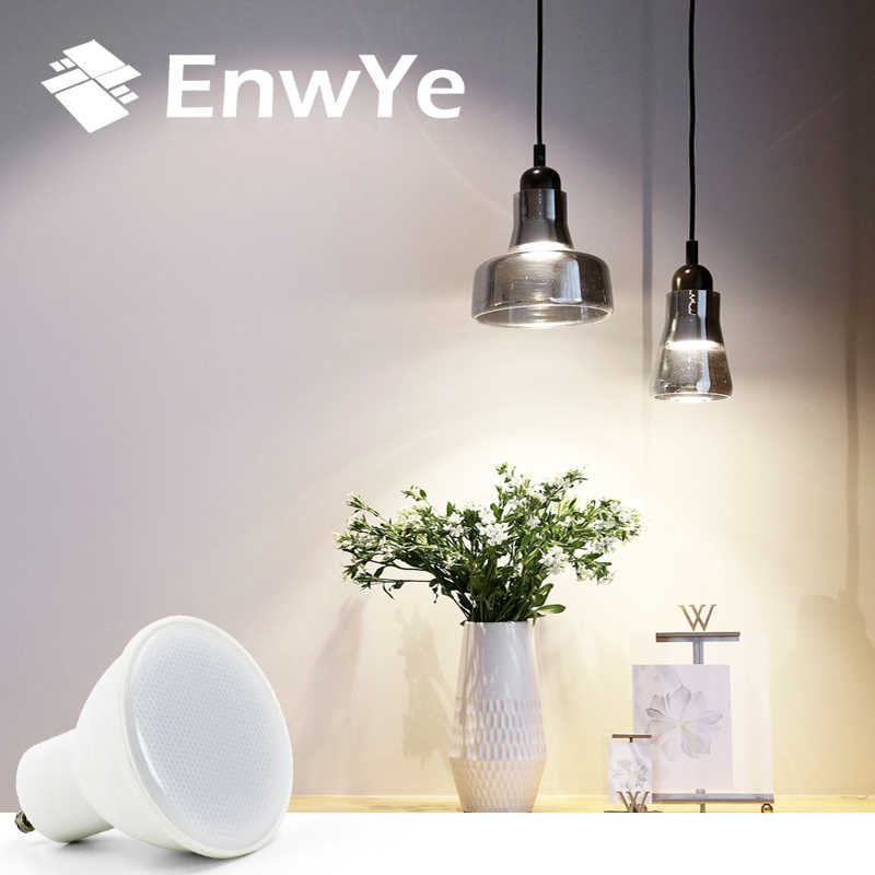 EnwYe E27 E14 MR16 GU5.3 GU10 Lampada LED Bulb 6W 220V Bombillas LED Lamp Spotlight Lampara Spot Light