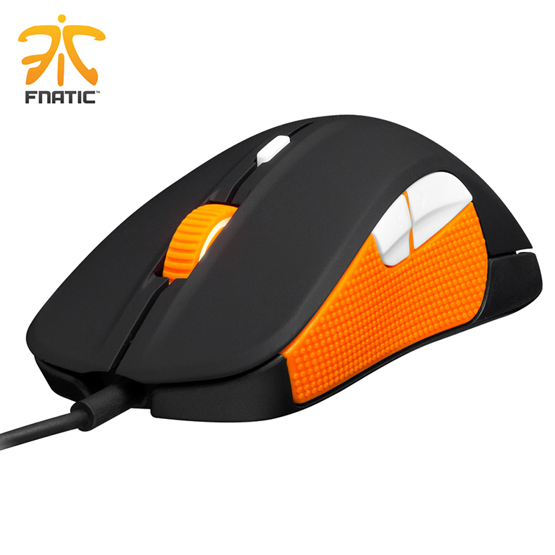 ФОТО 100% original steelseries mouse Steelseries Rival Fnatic Edition 6500 DPI gaming mouse USB professional Optical Gaming Mouse