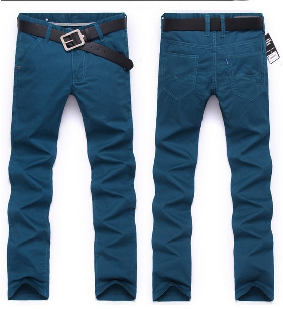 Free Shipping  4 Colors Men Designer Brand Pants Fashion Casual Slim Custom Fit Denim Pencil Jeans best price men s cowboy jeans fashion blue jeans pant men plus sizes regular slim fit denim jean pants male high quality brand jeans