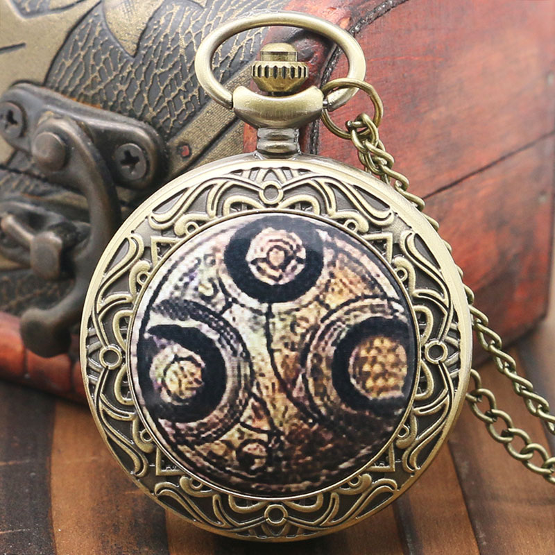 Doctor Who Theme Bronze Qaurtz Pocket Watch With Chain Necklace Best Gift футболка рингер printio доктор кто doctor who